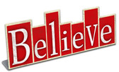 Believe Table Topper 10 x 4 Inches