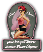 Girl Please Pinup Girl Metal Sign 13 x 16 Inches