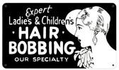 Hair Bobbing Vintage Metal Sign 14  x 8 Inches