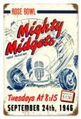 Vintage-Retro Mighty Midgets Metal-Tin Sign