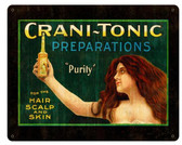 Cranitonic Preparations Vintage Metal Sign 15  x 12 Inches