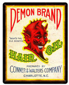 Demon Hair oil Vintage Metal Sign 12  x 15 Inches