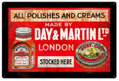 Day And Martin Shoe Polish Vintage Metal Sign 18  x 12 Inches