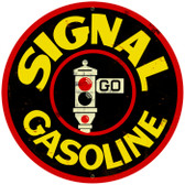 Vintage-Retro Signal Gasoline Round Metal-Tin Sign