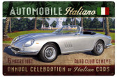 Automobile Italiano Vintage Metal Sign 36  x 24 Inches