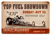 Vintage-Retro Top Fuel Showdown Metal-Tin Sign