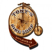 Retro Bike Shop 3D Metal Sign - Personalized 20 x 18 Inches