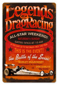 Vintage-Retro Legends Drag Metal-Tin Sign