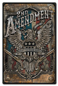 2nd Amendment Metal Sign 12 x 18 Inches