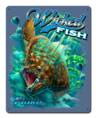 Fluke Wicked Fish Metal Sign 12 x 15 Inches