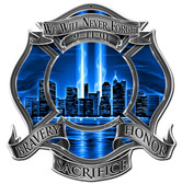 We Will Never Forget 911 Metal Sign 16 x 16 Inches