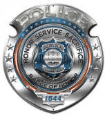 Police Badge of Honor Metal Sign 14 x 16 Inches