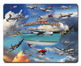 Airplane Collage Metal Sign 15 x 12 Inches