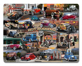Hot Rod Collage Metal Sign 15 x 12 Inches