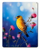 American Goldfinch Metal Sign 12 x 15 Inches