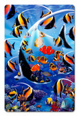 Angel Fish Metal Sign 12 x 18 Inches
