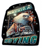 Truckers America Moving Metal Sign 14 x 16 Inches