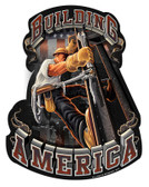 American Iron Worker Metal Sign 14 x 18 Inches