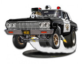 1964 Mo-power Cop Car Metal Sign 15 x 11 Inches