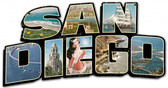 San Diego City Sign Metal Sign 20 x 11 Inches