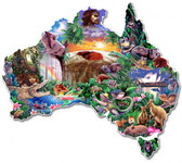 Australia Continent Shape Metal Sign 18 x 15 Inches