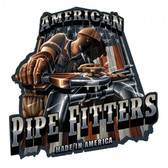 American Pipefitters Metal Sign 18 x 18 Inches