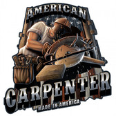 American Carpenter Saw Metal Sign 18 x 18 Inches