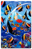 Angel Fish Metal Sign 16 x 24 Inches