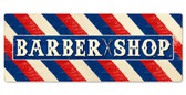 Barber Shop Large Metal Sign 48 x 18 Inches