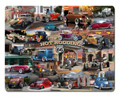 Hot Rod Collage Metal Sign 30 x 24 Inches