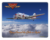 Dc-3 Airplane Metal Sign 30 x 24 Inches