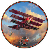 Fokker Tri-plane Round Metal Sign Round Metal Sign 28 x 28 Inches