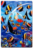 Angel Fish Metal Sign 24 x 36 Inches