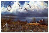 Autumn Snows Metal Sign 36 x 24 Inches