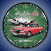 1965 Chevelle Malibu SS Lighted Wall Clock 14 x 14 Inches