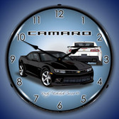 2014 SS Camaro Black Lighted Wall Clock 14 x 14 Inches