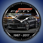 2017 Camaro 50th Lighted Wall Clock 14 x 14 Inches