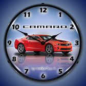 Camaro G5 Victory Red Lighted Wall Clock 14 x 14 Inches