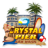 Vintage-Retro Crystal Pier Custom Shape Metal-Tin Sign