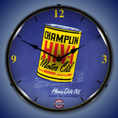 Champlin Oil Lighted Wall Clock 14 x 14 Inches