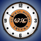 GMC Trucks Vintage Lighted Wall Clock 14 x 14 Inches