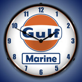 Gulf Marine Lighted Wall Clock 14 x 14 Inches