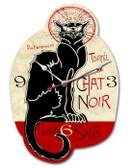 Vintage-Retro Chat Noir Custom Shape Metal-Tin Sign