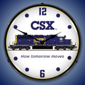CSX Railroad Lighted Wall Clock 14 x 14 Inches