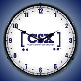 CSX Railroad How Tomorrow Moves Lighted Wall Clock 14 x 14 Inches