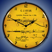 Thompson Sub Machine Gun Patent Lighted Wall Clock 14 x 14 Inches