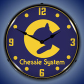 Chessie System Railroad Lighted Wall Clock 14 x 14 Inches