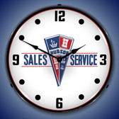 Hudson Sales and Service Lighted Wall Clock 14 x 14 Inches