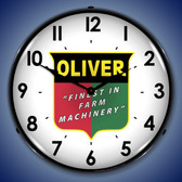 Oliver Farm Machinery Lighted Wall Clock 14 x 14 Inches