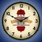 Barber Shop 2 Lighted Wall Clock 14 x 14 Inches
